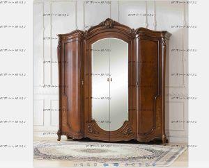 Шкаф 4-х дверный с зеркалами Тиффани Диа Мебель
