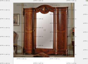 Шкаф 4-х дверный с зеркалами Венеция Диа Мебель