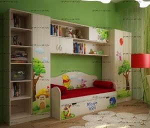 Детская комната Винни Пух №1