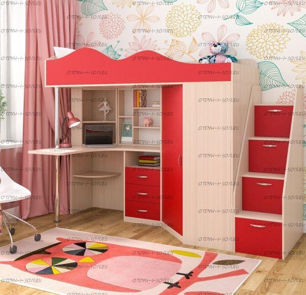 Кровать-чердак Пионер