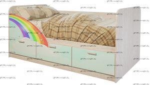 Кровать Минима Радуга (80х160)