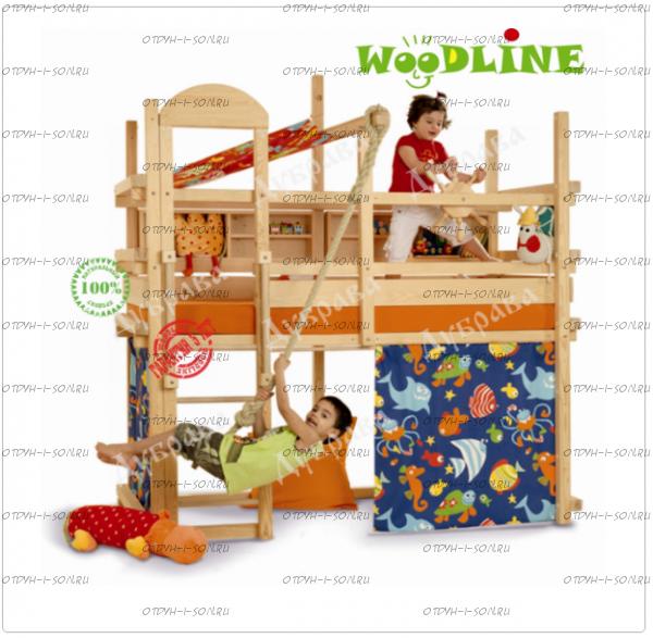 Кровать-чердак Сиэтл №4 массив
