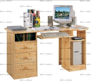 Стол компьютерный №3 массив