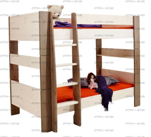 Кровать двухъярусная Лилия Массив