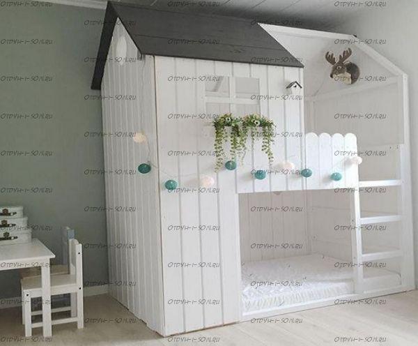 Кровать двухъярусная Домик №7 (любые размеры)