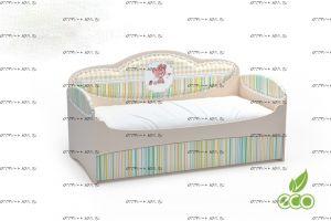 Кровать-диван Mia с выкатным спальным местом (Мебелев)