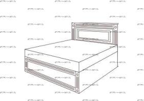 Кровать с подъемным механизмом Патиния, мод. 2 МДФ