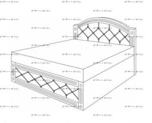 Кровать с подъемным механизмом Патиния, мод. 6 МДФ