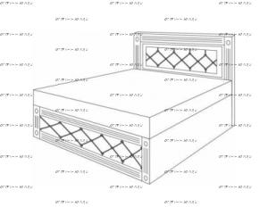 Кровать с подъемным механизмом Патиния, мод. 8 МДФ