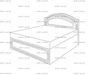 Кровать с подъемным механизмом Патиния, мод. 4 МДФ