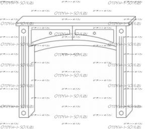 Стол туалетный Патиния, мод. 42 МДФ
