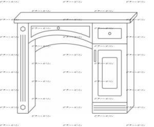 Стол туалетный Патиния, мод. 43 МДФ
