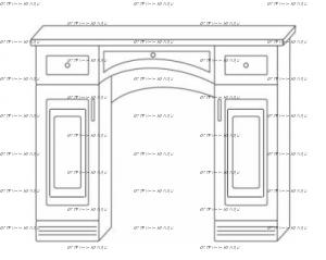 Стол туалетный Патиния, мод. 44 МДФ