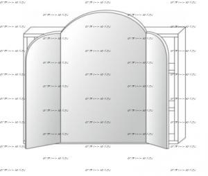 Надстройка к столу туалетному Патиния, мод. 46 МДФ