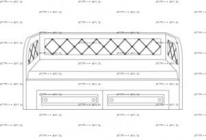 Кровать б/о Патиния, мод. 14 МДФ