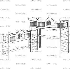 Кровать-чердак Лейла-Замок