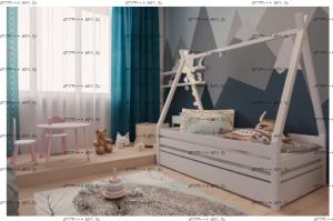 Кровать Домик №7Д