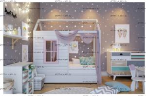 Кровать Домик №9 массив