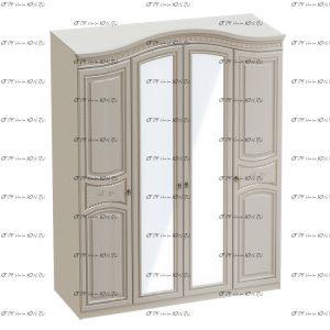 Шкаф 4-дверный Николь