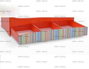 Ящик выкатной (для белья) к кровати Mia (Мебелев)