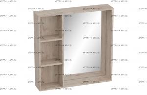 Полка с зеркалом 800 Фан (800х166х800) (прихожая)