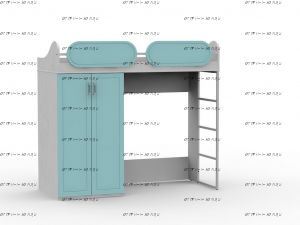 Кровать-чердак Teen`s Home 2 (18.104.00) 80х195