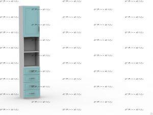 Шкаф-пенал Teen`s Home 2 / Lite (40х37х216)